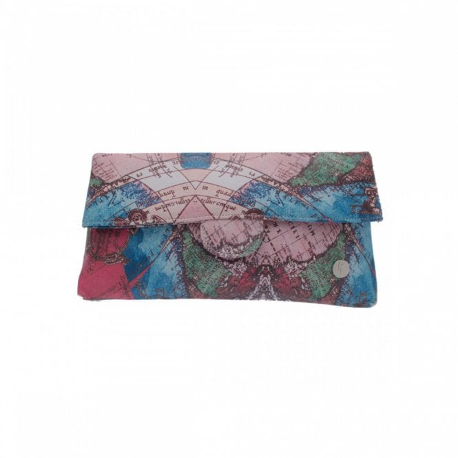 Peter Kaiser Special Edition Map Design Clutch Bag
