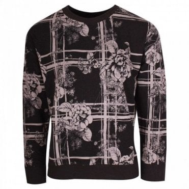 Sports Luxe Sweater Style Floral Jumper