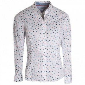 Dani Star Print Long Sleeve Cotton Shirt