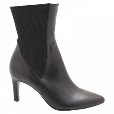 Peter Kaiser Stiletto Heel Leather Ankle Sock Boots