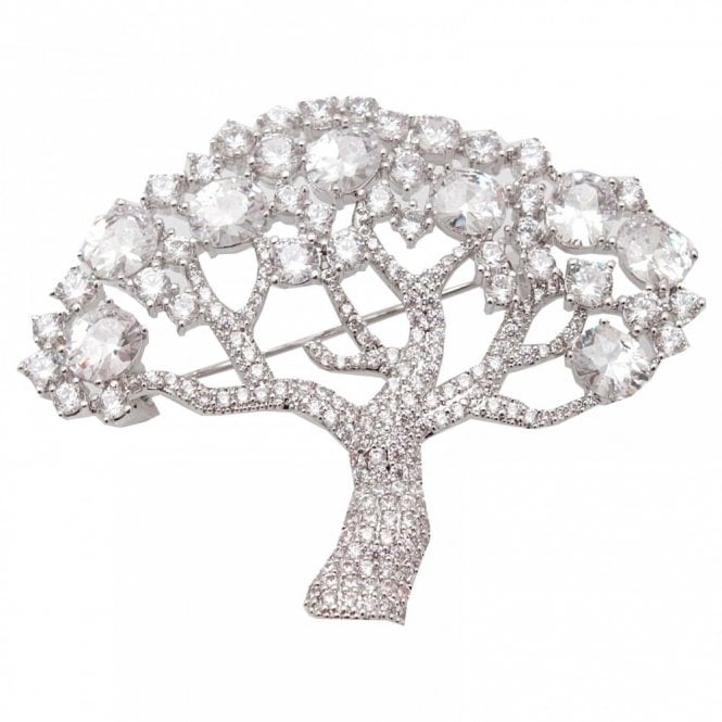 Nour London Stone Encrusted Tree Brooch