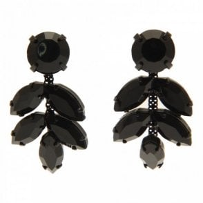 Stone Shaped Detail Stud Drop Earrings