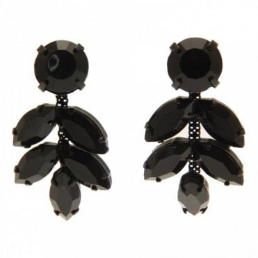 Nour London Stone Shaped Detail Stud Drop Earrings