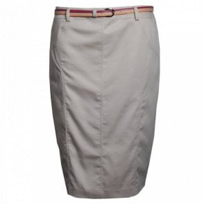 Frank Walder Straight Skirt With Belt