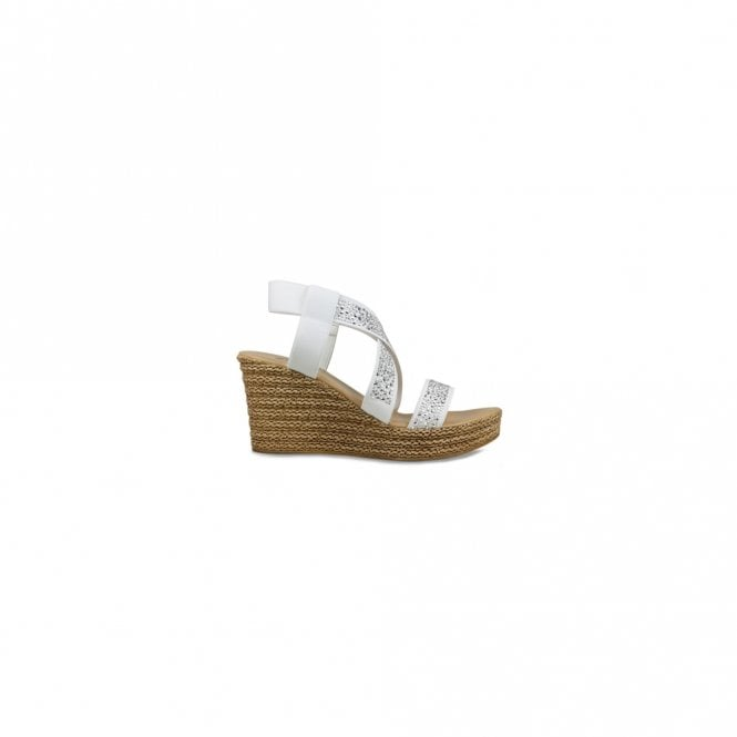 Lisa Kay Strap Over Glitter Wedge