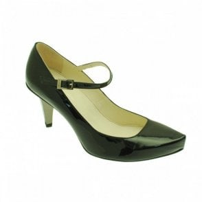 Strap Over Heeled Court Shoe