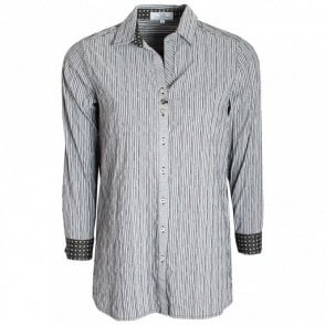Stretch Cotton Long Sleeve Fitted Shirt