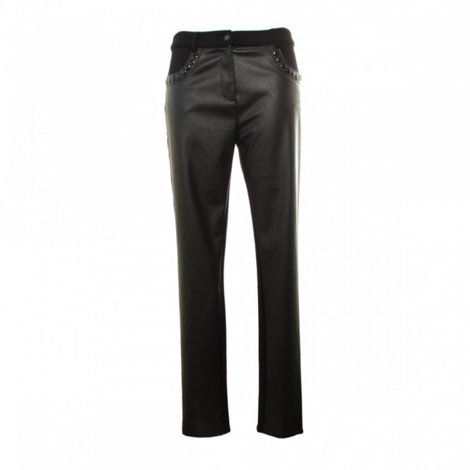 Leslie Stretch Faux Leather Trousers