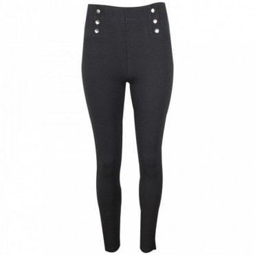Leo Guy Striaght Leg Trousers With Button Detail