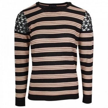 Leo Guy Striped Jumper With Star Shoulder Detail