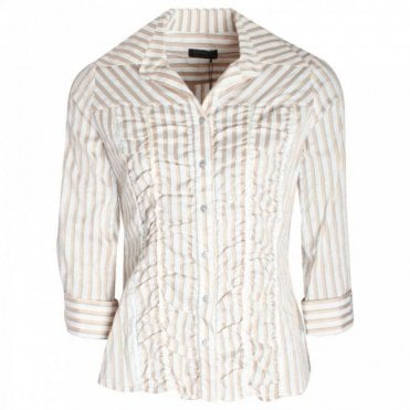 Apanage Stripped Boyfriend Fit Women's Shirt