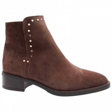 Studd Detail Suede Ankle Boot