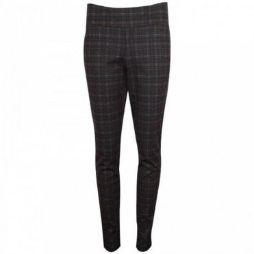 Up! Subtle Check Pull On Trousers