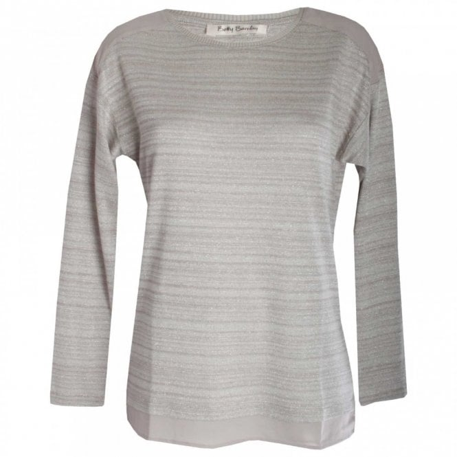 Betty Barclay Subtle Stripe & Glitter Long Sleeve Top