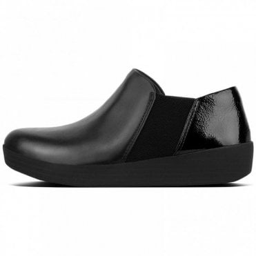 Fitflop™ Super Chelsea Patent & Leather Slip-ons