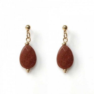 Bcharmd Swift Caramel Brown Sandstone Earrings
