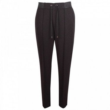 Tappered Leg Shimmer Sport Luxe Trousers