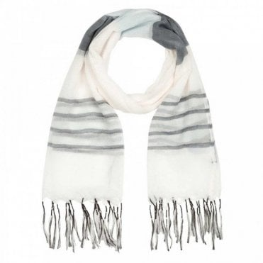 Tassle Edge Colour Panel Long Scarf