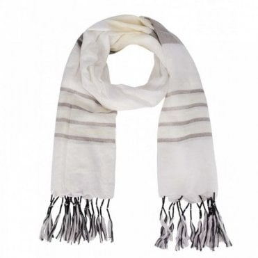 Oui Tassle Edge Colour Panel Long Scarf