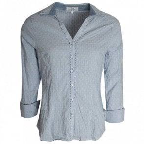 Textured Fabric Stretch Cotton Shirt