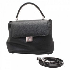 Abro Textured Leather Shoulder & Grab Handbag