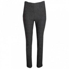 Textured Slim Leg Pull On Trousers
