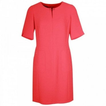The Red Berry Short Sleeve Shift Dress