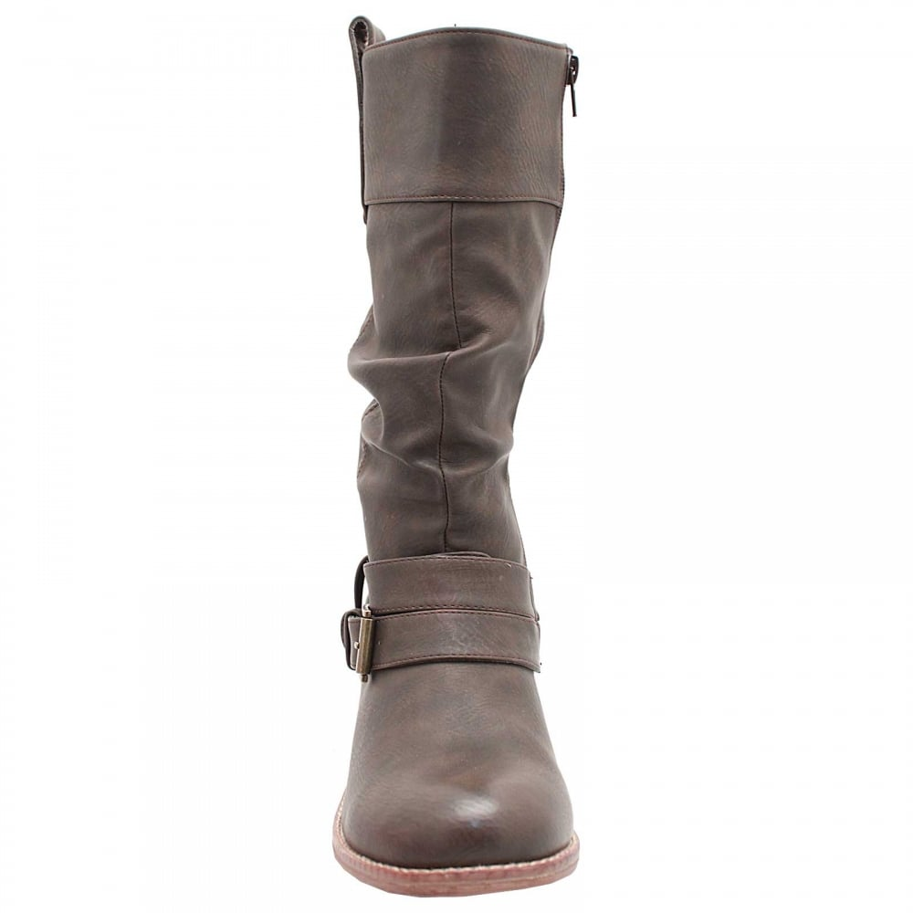 813ce4b7851cb Three Quarter High Long Boots By Rieker At Walk In Style