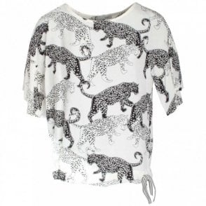 Three Quarter Sleeve Cheetah Print Top