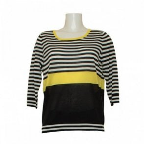Three Quarter Sleeve Fine Knit Jumper