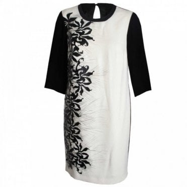 Badoo Three Quarter Sleeve Floral Shift Dress