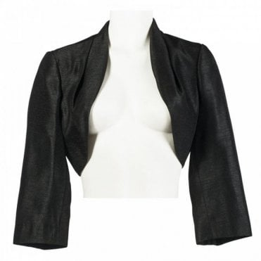 Three Quarter Sleeve Satin Bolero Jacket