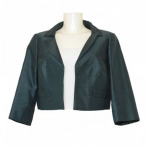 Three Quarter Sleeve Silk Jacket