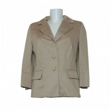 Latte Three Quarter Sleeve Tailored Jacket