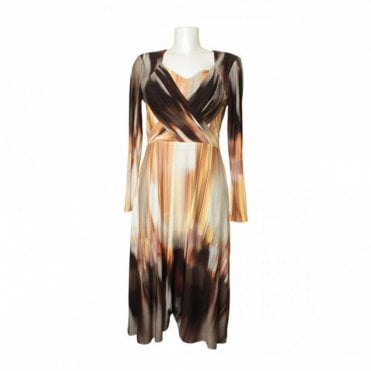 Tie-dye Effect Dress With Crossover