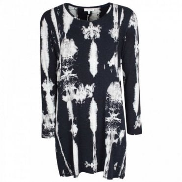 Tiedye Print Organic Cotton Jumper Dress