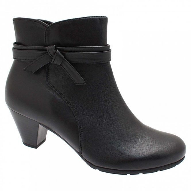 Gabor Tiffey Ankle Boot With Side Knot Detail