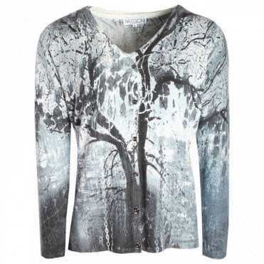 Tree Print Twin Set - Cardigan & T-shirt