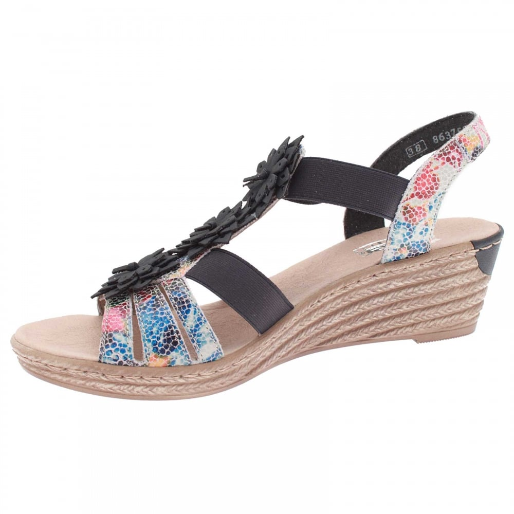 716240751f4 Trinidad Strappy Flower Wedge Sandal By Rieker At Walk In Style