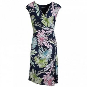 Michaela Louisa V-neck Floral Print Sleeveless Dress