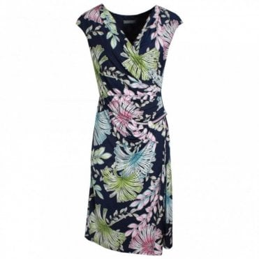 V-neck Floral Print Sleeveless Dress