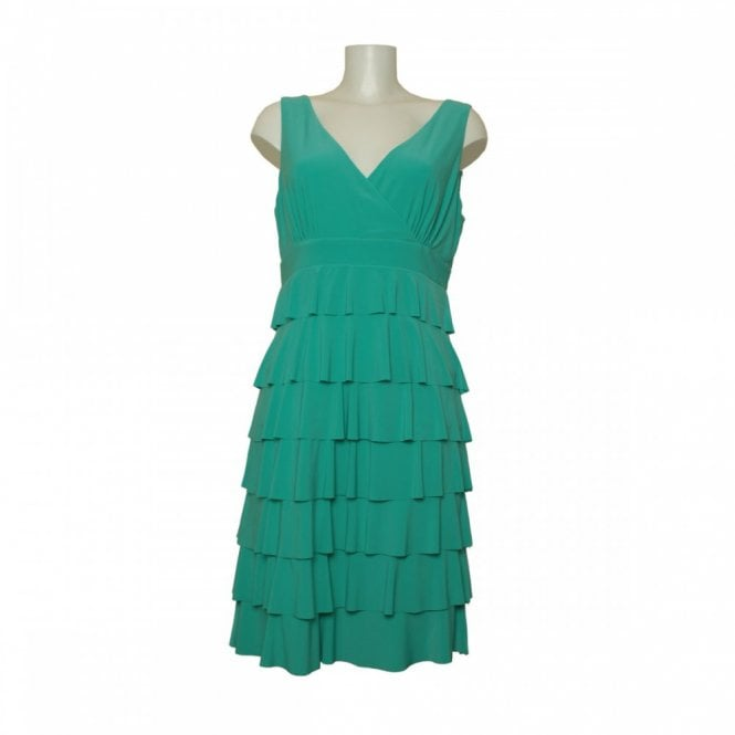 Frank Lyman V Neck Frill Dress