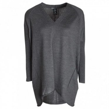 V Neck Long Sleeve Knitted Jumper