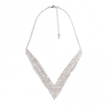 Dante V Shape Diamante Necklace