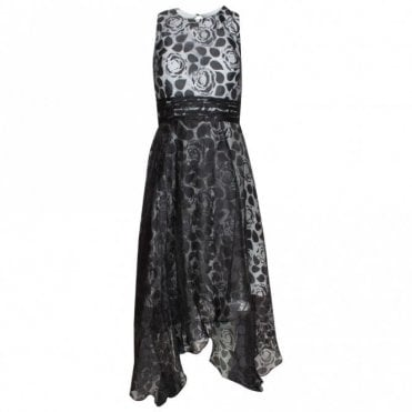 Veromia Occasions Sleeveless Lace Overlay Long Dress