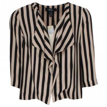 Badoo Waterfall Style Stripped Jacket
