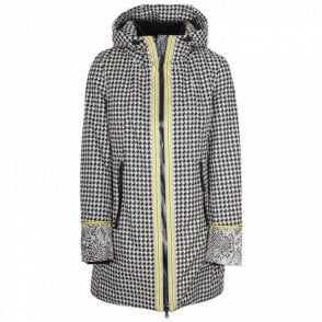 Creenstone Waterproof Dogtooth Print Raincoat