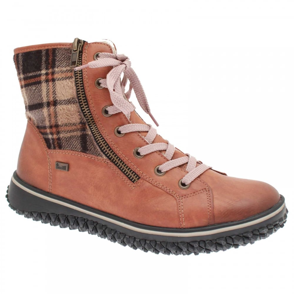 Warm Lined Ankle Boot By Reiker At Walk
