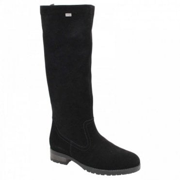 Remonte Waterproof Suede Adjustable Long Boot