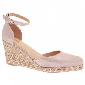 Wedge Ankle Strap Closed Toe Shoes